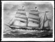 Painting of an unknown three-masted barque