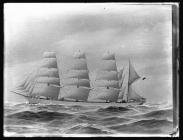 Painting of four-masted barque CARRADALE