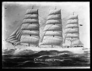 Painting of three-masted ship CHILE