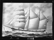 Painting of three-masted barquentine EQUATOR of...