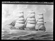 Painting of three-masted ship ENDYMION