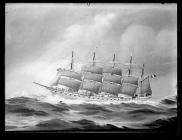 Painting of the five-masted barque FRANCE