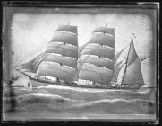 Painting of the three-masted barque GRANDE