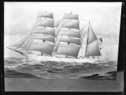 Painting of the three-masted barque GAA PAA