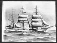 Painting of the three-masted barque LOCOTRA
