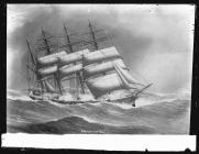 Painting of the four-masted barque MARLBOROUGH...