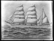 Painting of the three-masted barque MARION