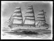 Painting of the three-masted barque MANICIA
