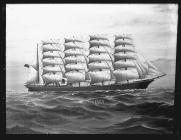Painting of the five-masted barque NEATH