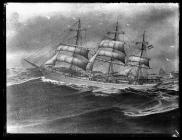 Painting of the three-masted barque OAKLANDS