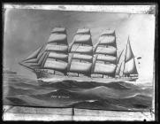 Painting of the four-masted barque PORT STANLEY