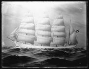 Painting of the four-masted barque SPARTAN