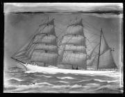 Painting of the three-masted barque SIRIUS