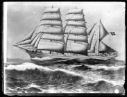 Painting of the three-masted barque TOREDY