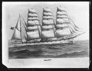 Painting of the four-masted barque VALERIE