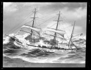 Painting of the three-masted barque UNION