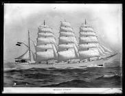 Painting of the four-masted barque WERNER VINNEN