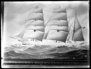 Painting of the three-masted barque ZIPPORA-RISOR