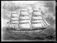 Painting of an unknown three-masted ship