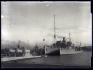 Depot Ship with Destroyer and submarines c.1937