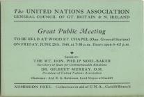 UNA Public Meeting Flyer