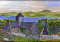 Painting of Penmon Priory, Anglesey, by Richard...