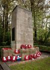 Wreath laying at the Newbridge War Memorial