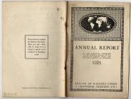 The UK League of Nations Annual Report 1925