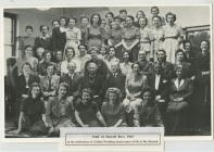 Staff of Howell Bros. 1945 at the Celebration...