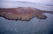 Aerial photograph of Pembrokeshire coast...