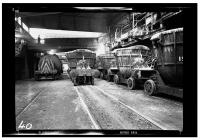 Tapping a blast furnace at East Moors Steelworks