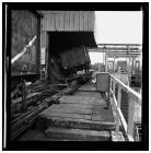 Wagon tipper at Llanwern steelworks