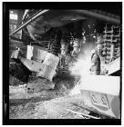 Blast furnace at Llanwern steelworks