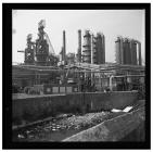 Blast furnaces at Port Talbot Steel Works