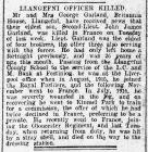 An Anglesey Officer Killed in Action - North...