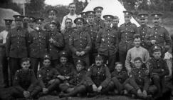 Group of Soldiers in Llanidloes c1910-1920