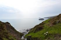 The view from the top of Porth Ysgo