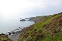 View from the top of Porth Ysgo