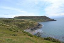 Looking towards Porth Ysgo from the coastal path
