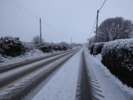 Snow near Aberdaron, Pwllheli 06/02/2018