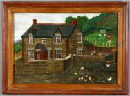 Oil painting of Dan y Wenallt Isaf, Talybont