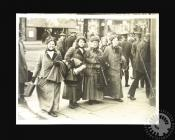 Photograph of a group of Welsh Suffragettes...