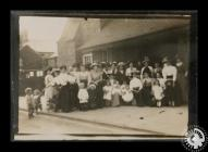 Group photographs of unidentified women and...