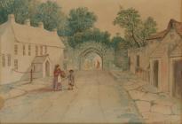 Watercolour of the Free School in Cowbridge