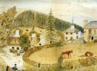 Copy of a painting of Talley showing the site...