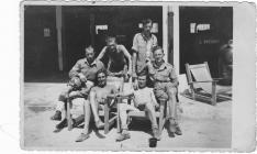 Stanley Davies with other soldiers in Italy...
