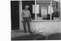 Stanley Davies outside the Co-operative Store...