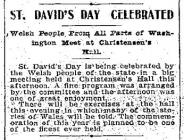 St. David's Day, Seattle 1904