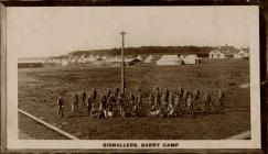 Signallers Barry Camp