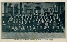 Romilly School Prize Choir, Barry, 1909.